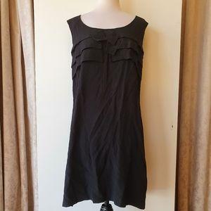 Veronika Maine Black Sleeveless Dress Size 14